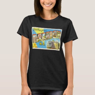 Raleigh North Carolina NC Vintage Travel Postcard- T-Shirt