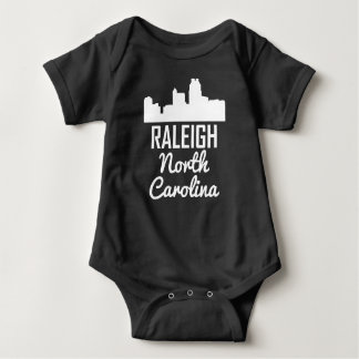 Raleigh North Carolina Skyline Baby Bodysuit