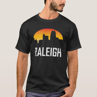 Raleigh North Carolina Sunset Skyline T-Shirt