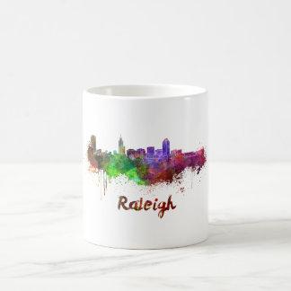 Raleigh skyline in watercolor coffee mug