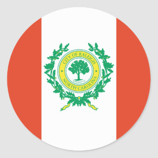 Raleigh, United States flag Classic Round Sticker