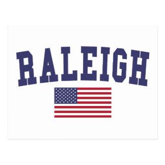 Raleigh US Flag Postcard
