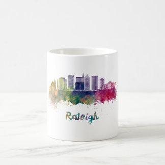 Raleigh V2 skyline in watercolor Coffee Mug