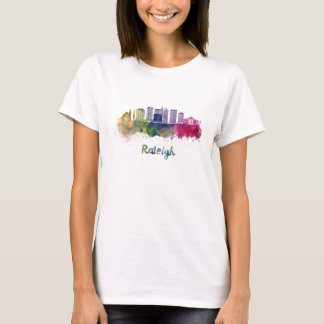 Raleigh V2 skyline in watercolor T-Shirt