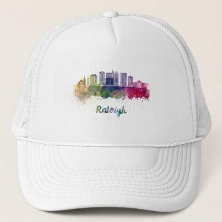 Raleigh V2 skyline in watercolor Trucker Hat