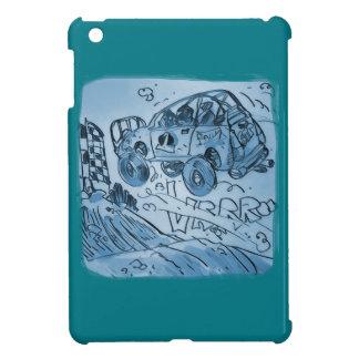 rally  car flying high blue iPad mini cover