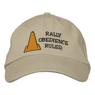 Rally Obedience Rules Embroidered Hat
