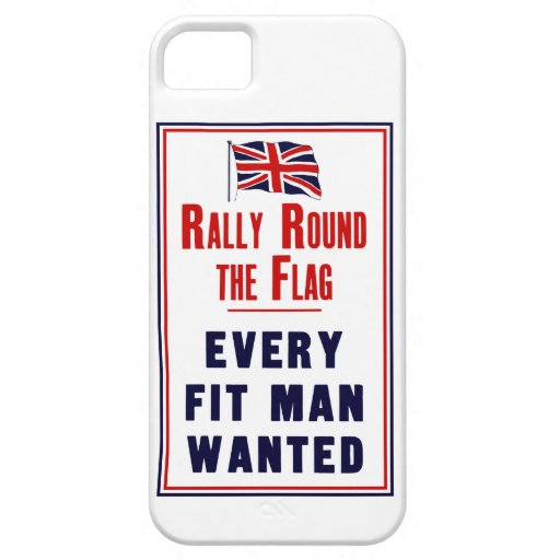 Rally Round The Flag ~ Every Fit Man Wanted iPhone 5 Cover