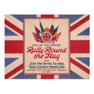 Rally Round the Flag postcard
