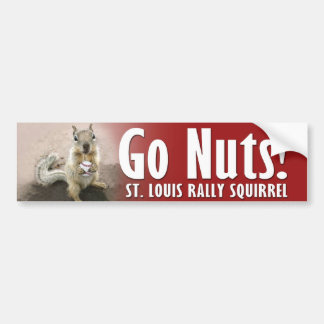 Rally Squirrel - Meet me in St Louis Bumper Sticker