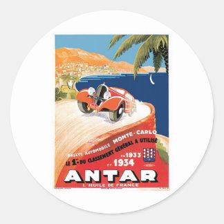 Rallye Automobile Monte Carlo Classic Round Sticker