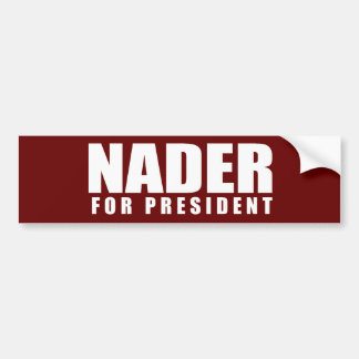 RALPH NADER Election Gear Bumper Sticker
