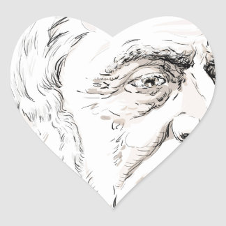 Ralph Waldo Emerson Heart Sticker