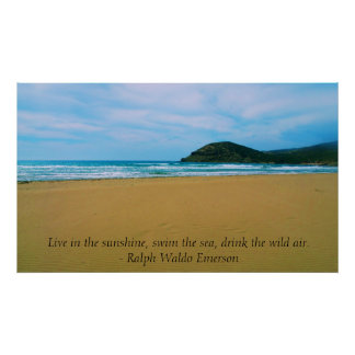 Ralph Waldo Emerson inspirational quote POSTER