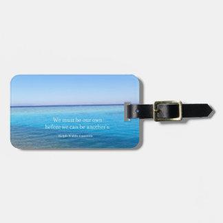 Ralph Waldo Emerson love quote Luggage Tag
