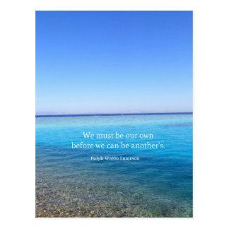 Ralph Waldo Emerson love quote Postcard