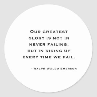 Ralph Waldo Emerson - Motivation Quote Classic Round Sticker