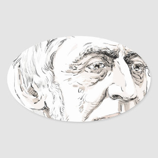 Ralph Waldo Emerson Oval Sticker