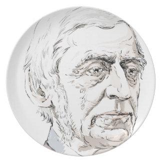 Ralph Waldo Emerson Party Plate