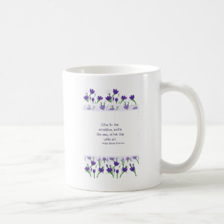 Ralph Waldo Emerson Quote- Spring Crocus Flowers Coffee Mug