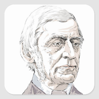 Ralph Waldo Emerson Square Sticker
