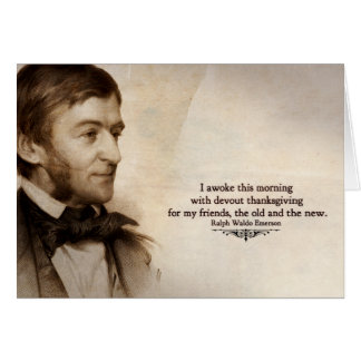 Ralph Waldo Emerson Thank You Card