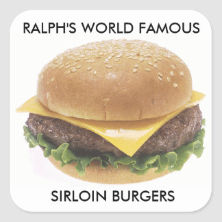 Ralph's World Famous Sirloin Burgers Square Sticker