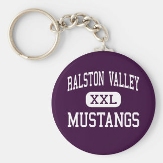 Ralston Valley - Mustangs - High - Arvada Colorado Keychain