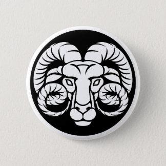 Ram Aries Zodiac Sign 2 Inch Round Button