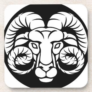Ram Aries Zodiac Sign Coaster