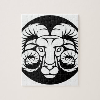 Ram Aries Zodiac Sign Jigsaw Puzzle