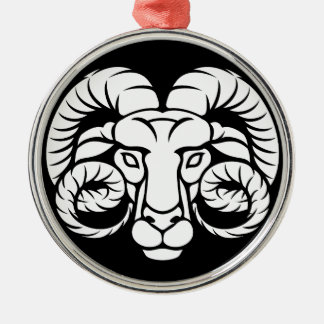 Ram Aries Zodiac Sign Metal Ornament