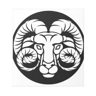 Ram Aries Zodiac Sign Notepad