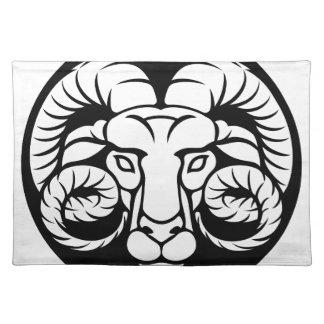 Ram Aries Zodiac Sign Placemat