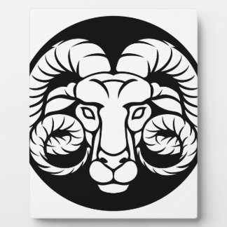 Ram Aries Zodiac Sign Plaque