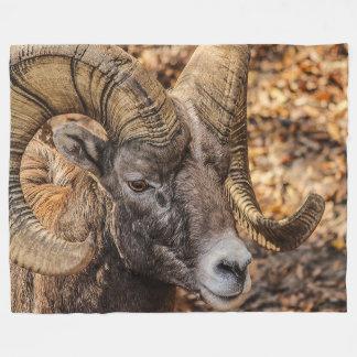 Ram Bighorn Wildlife Fleece Blanket