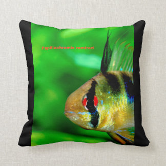 Ram Cichlid and Papiliochromis ramirezi Throw Pillow
