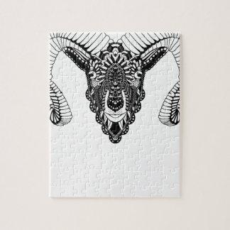 Ram drawing mandala style jigsaw puzzle