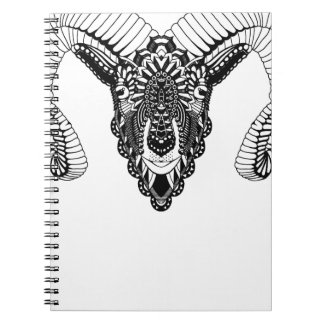 Ram drawing mandala style notebook