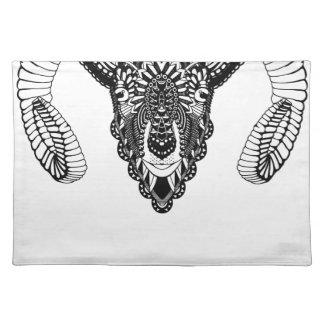 Ram drawing mandala style placemat