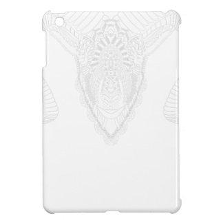 Ram drawing mandala style white iPad mini cover