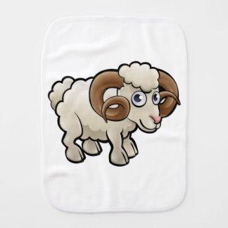 Ram Farm Animals Cartoon Character Burp Cloth