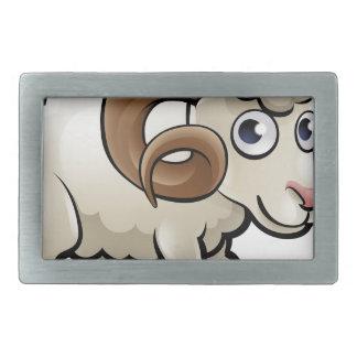 Ram Farm Animals Cartoon Character Rectangular Belt Buckles