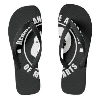 RAM Flip Flops, Large White Logo Flip Flops