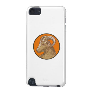 Ram Goat Head Circle Drawing iPod Touch (5th Generation) Cases