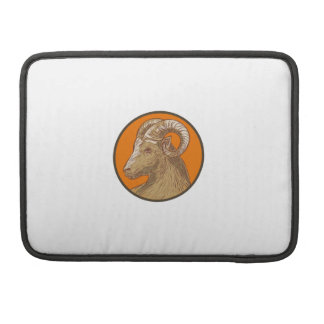 Ram Goat Head Circle Drawing Sleeves For MacBook Pro