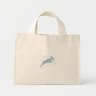 Ram Goat Jumping Watercolor Mini Tote Bag