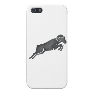 Ram Goat Silhouette Jumping Watercolor Cover For iPhone 5/5S