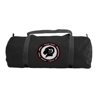 RAM Gym Bag, Black and Red Logo Gym Bag