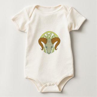 Ram Head Celtic Knot Baby Bodysuit
